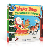 英文原版 Bizzy Bear Christmas Helper 忙碌的小熊系列 圣诞老人 操作书 0-3岁幼儿启蒙认