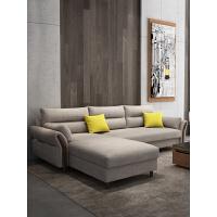 布艺沙发组合大小户型转角可拆洗客厅套装现代简约双人北欧沙发 电柜