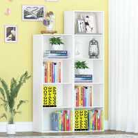 【满减优惠】简易书柜书架简约现代柜子储物柜自由组合收纳柜置物柜黑色小柜子