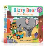 预售 顺丰发货 英文原版 小熊很忙系列 Bizzy Bear Zoo Ranger 动物园漫游者 纸板互动活动操作游戏