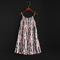 吊带背心裙女童新款连衣裙沙滩裙童装新款亲子装母女装小中大童裙