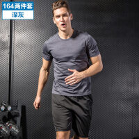 运动套装男薄款短袖T恤跑步服休闲运动速干衣运动短裤运动服装