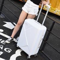 拉杆箱万向轮行李箱20寸女小清新旅行箱22寸24寸26寸密码箱 白色+*包 20寸
