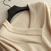 秋冬新品羊绒衫女v领套头毛衣短款修身长袖保暖针织衫女装