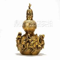 纯铜八仙铜葫芦摆件 实用商务馈赠礼品家居装饰品 创意礼品