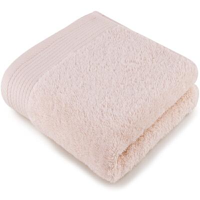 [当当自营]三利 A类加厚长绒棉 米色 缎边大面巾 纯棉洗脸毛巾 柔软舒适 带挂绳 婴儿可用