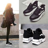 春季内增高休闲鞋女单鞋运动高帮厚底女鞋子