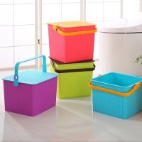 多功能钓鱼桶凳塑料方形收纳凳桶储物桶加厚水桶可坐钓鱼桶Z