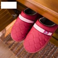 新款防滑情侣软厚PU拖鞋 男士居家用防水棉拖鞋 室内家皮拖鞋女
