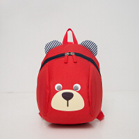 2岁宝宝书包儿童背包1-3岁可爱幼童双肩包婴儿防走失包男女小孩包 红色