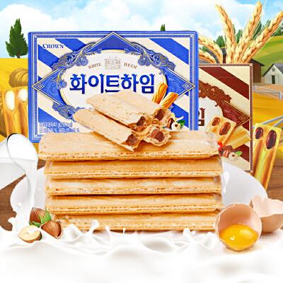 【包邮】韩国进口 可拉奥 榛子奶油/榛子巧克力 威化夹心饼干 47g*3盒 限时促销!优惠大促!限时抢购!