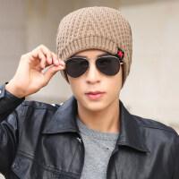 帽子男韩版潮毛线帽加绒加厚保暖棉帽针织帽套头帽包头帽