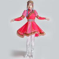 蒙古舞蹈服装演出服女少数民族服装女民族舞蹈演出服装蒙古服装女