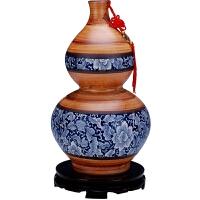 家居装饰品摆件景德镇陶瓷花瓶 大号陶艺青花仿古花瓶摆设