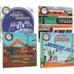 Shine A Light 英文原版 小达尔文大发现系列 4册平装 光影魔术书 Train/ Space/Space