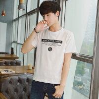 韩版男士圆领短袖T恤新款男装夏季打底衫字母印花体恤上衣服潮