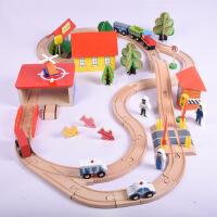 出口原单 69片木制百变托马斯轨道车 电动轨道火车儿童玩具新