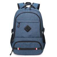 韩版双肩包男式学生书包休闲USB充电背包男士大容量电脑包潮