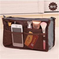 普润 包中包内胆包收纳袋化妆包便携洗漱袋女包手拿收纳包 咖啡色