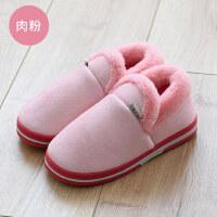 棉拖鞋包跟家居家室内防滑保暖厚底情侣男女可爱月子棉鞋