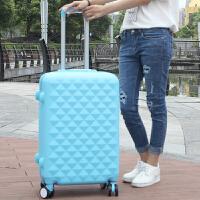 红色旅行箱结婚拉杆箱子母箱行李箱嫁妆箱子女万向轮皮箱包 湖蓝色单只 20寸