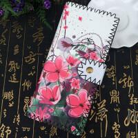 民族风长款钱包女 时尚潮流小清新印花diy手工皮夹中国风复古钱夹