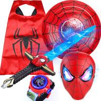 (儿童节礼物)包邮美国蜘蛛队长侠发光宝剑儿童仿真刀剑玩具万圣节表演装扮道具