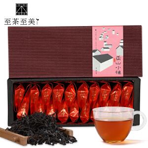 至茶至美 正山小种红茶 桐木关特级红茶茶叶 武夷红茶 100g 武夷山茶 包邮