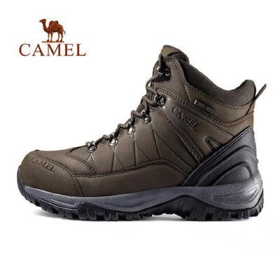 【满259减200元】camel骆驼户外高帮登山鞋 秋冬登山防滑油感皮质高山靴男