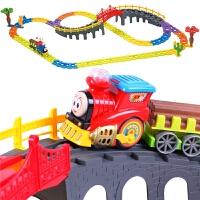贝恩施 小火车套装轨道车玩具男孩电动火车动车赛车儿童玩具3-6岁
