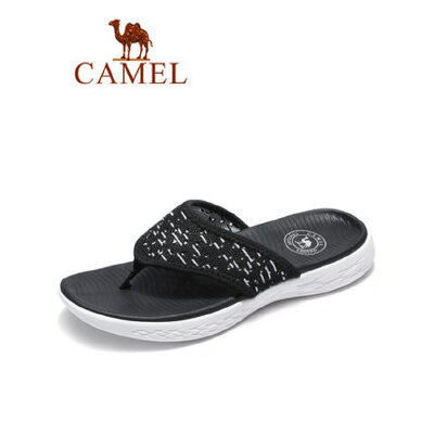 camel骆驼男鞋2019夏季新品潮流休闲沙滩人字拖轻运动风轻盈度假拖鞋