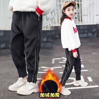 女童棉裤加绒冬季韩版大儿童洋气休闲外穿长裤子童装
