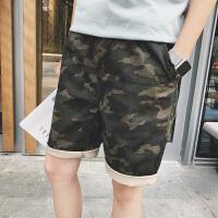夏季学生迷彩短裤男士宽松休闲裤夏天韩版潮流运动五分裤子沙滩裤