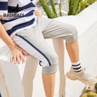【59元2件】巴拉巴拉旗下巴帝巴帝童装2019春夏新款男童中裤灰色纯棉运动裤中大童