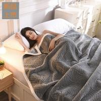 毛毯冬季空调毯加厚珊瑚绒毯子毛巾被盖毯法兰绒午睡毯单人床单定制 200cmx230cm 拒绝仿品 柔软加厚
