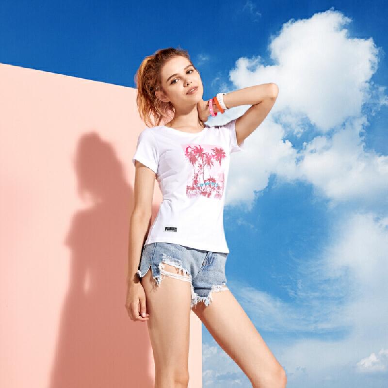 361°圆领透气女款运动T恤户外系列女款圆领短袖短T女式t恤