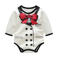 婴儿连体衣服宝宝新生儿季爬爬服01岁个月款长袖三角哈衣