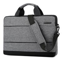 BRINCH英制超博新款电脑包13.3 14 15.6英寸苹果联想戴尔华硕男女时尚休闲商务单肩手提笔记本包