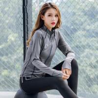 户外跑步外套女 健身房长袖运动衣服卫衣速干瑜伽服上衣装备