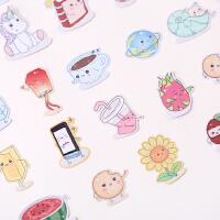 手帐贴纸可爱韩国手账本半透明贴画装饰工具素材自粘套装 小表情