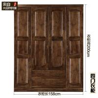 香樟木纯实木衣柜整体现代中式衣橱组装柜子组合卧室家具定制订做 6门以上
