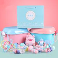 婴儿玩具3-6个月宝宝0-1岁可水煮益智摇铃牙胶套装新生儿玩具礼盒