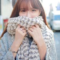 韩版加厚冬天保暖针织围脖女毛线马海毛长款围巾男女