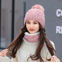 韩版百搭护耳针织帽雪尼尔加绒保暖毛线帽学生可爱潮帽子女