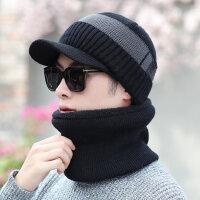 加绒保暖男士套帽青年韩版帽子男毛线帽加厚针织帽套头帽