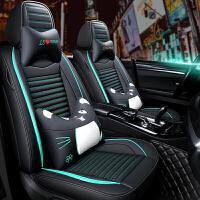 汽车坐垫新款四季通用小车皮革座套夏季冰丝坐套全包围专用座垫套