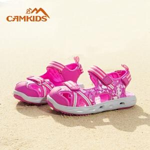 camkids垦牧儿童鞋女童凉鞋2018新款夏季中大童包头透气沙滩鞋