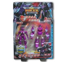 钢铁飞龙玩具5寸六合一合体机器人火焰神9057.9058三合体