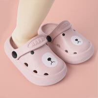 女童洞洞鞋夏软底外穿小孩宝宝卡通可爱萌男童幼儿凉拖鞋