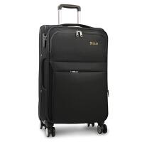 拉杆箱万向轮帆布28寸26大容量旅行箱密码行李箱牛津布男女登机20 黑色 3019